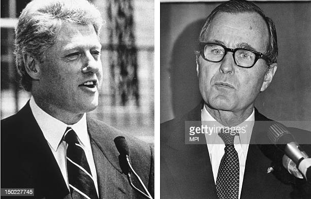 In this composite image a comparison has been made between former US Presidential Candidates George Bush and Bill Clinton In 1992 Bill Clinton won...