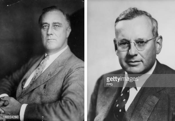 In this composite image a comparison has been made between Franklin Delano Roosevelt and Alf Landon In 1936 Franklin Delano Roosevelt won the...