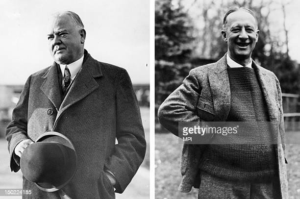 In this composite image a comparison has been made between Herbert Hoover and Al Smith In 1928 Herbert Hoover won the presidential election to become...