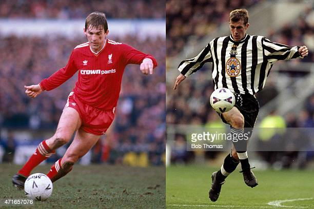 In this composite image a comparison has been made between images 85788832 and 1271124 of Father and Son IMAGE*** Kenny Dalglish in action for...