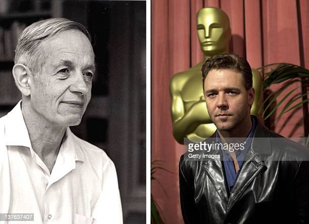 In this composite image a comparison has been made between John Forbes Nash Jr and actor Russell Crowe Oscar hype continues this week with the...