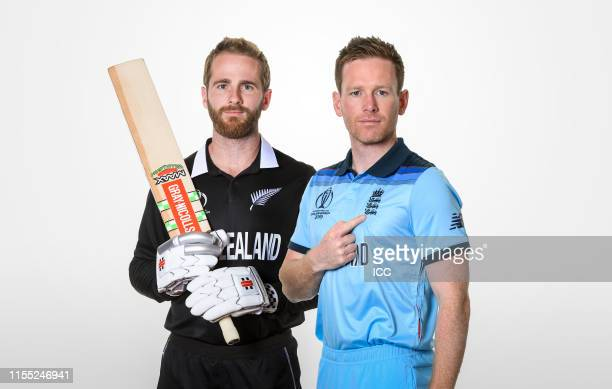 EDITORS NOTE COMPOSITE OF IMAGES Image numbers 1151487344 1151594204 In this composite image a comparison has been made between Kane Williamson of...