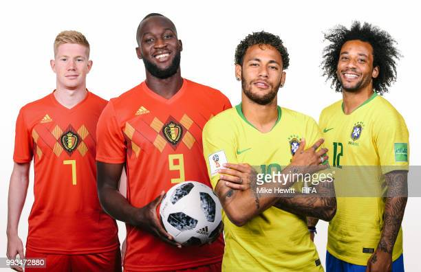 COMPOSITE OF IMAGES Image numbers 974380406973385390973386748 In this composite image a comparison has been made between Kevin De Bruyne with Romelu...