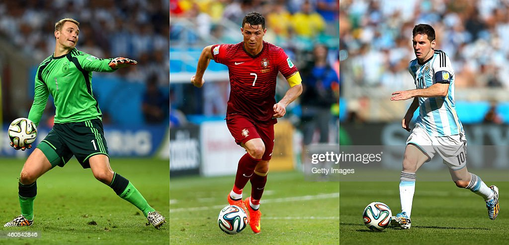 FILE: The Finalists - FIFA Ballon d'Or 2014 : News Photo