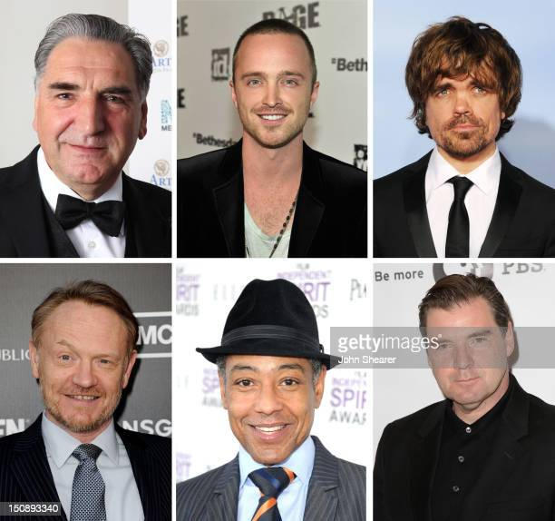 In this composite image a comparison has been made between the 2012 Emmy Nominees For Outstanding Supporting Actor In A Drama Series Actor Brendan...