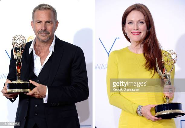 In this composite image a comparison has been made between the 2012 Emmy winners for Outstanding Lead Actors in a Miniseries or Movie Actress...
