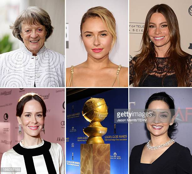 In this composite image a comparison has been made between the 2013 Golden Globe Award nominees for Best Performance by an Actress in a Supporting...