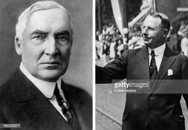 In this composite image a comparison has been made between US Presidential Candidates Warren G Harding and James M Cox In 1920 Warren G Harding won...