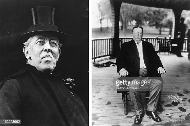 In this composite image a comparison has been made between Woodrow Wilson and William Howard Taft. In 1912 Woodrow Wilson won the presidential...
