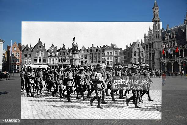 In this composite image a comparison has been made of Grote Markt Commemorations of The First World War Centenary begin in 2014 and will last until...