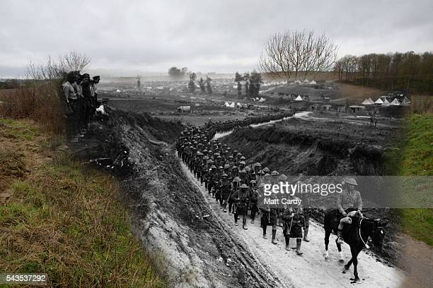 In this composite image a comparison has been made of the Becordel to Fricourt Road This year will mark the 100th anniversary of the start of the...