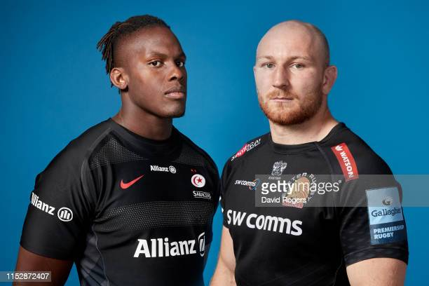 In this composite image Maro Itoje of Saracens and Matt Kvesic of Exeter Chiefs are pictured together Exeter Chiefs face Saracens in the Gallagher...