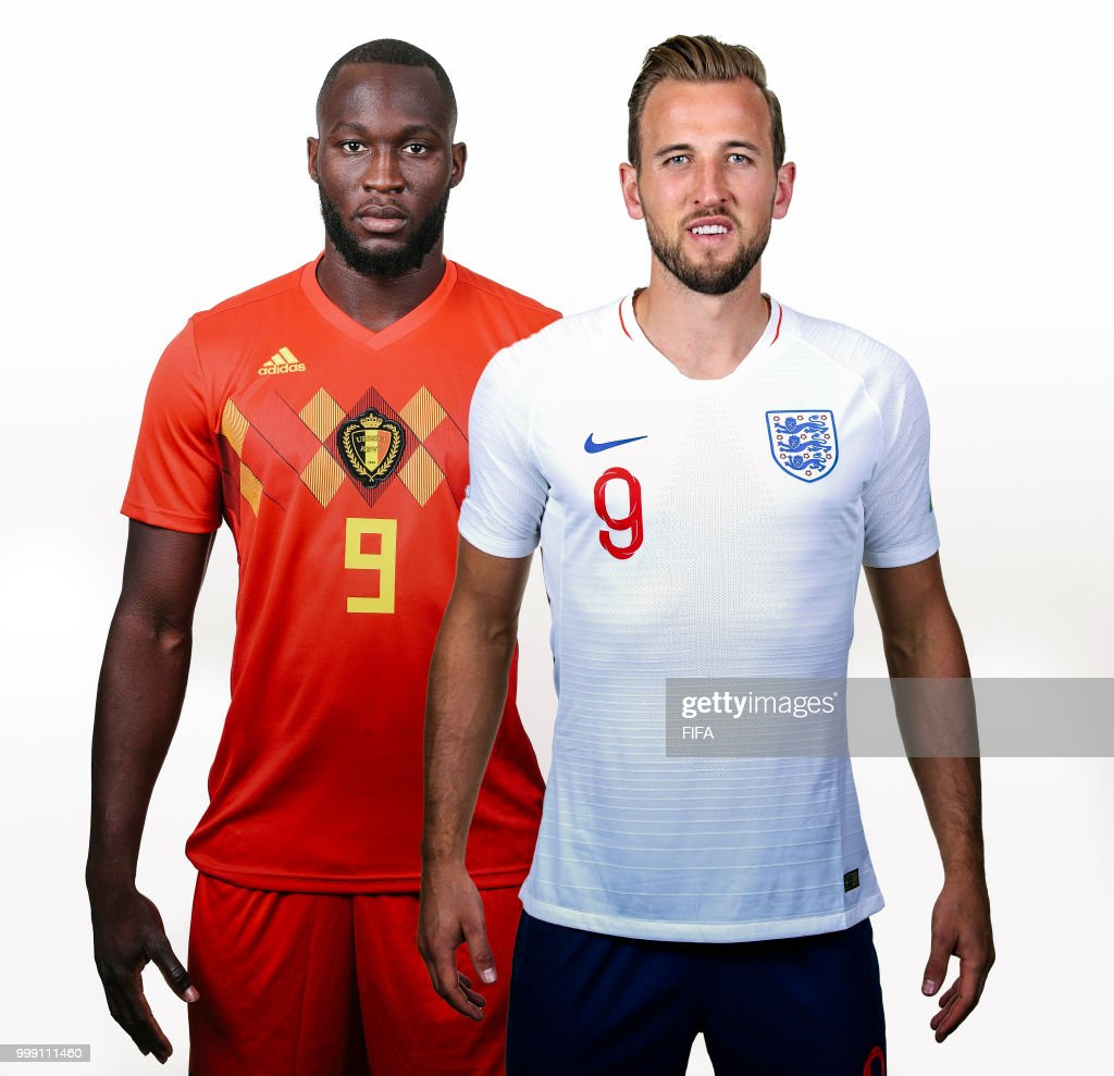 In this composite image, the leading contenders in the race for the adidas Golden Boot at the 2018 FIFA World Cup Russia pose for a picture,(L-R) Romelu Lukaku of Belgium and Harry Kane of England.