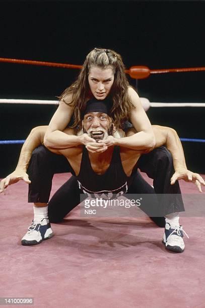 SUSAN In This CornerÉ Susan Keane Part 2 Episode 20 Aired 5/10/99 Pictured Brooke Shields as Susan Keane Hulk Hogan as himself Photo by Paul...