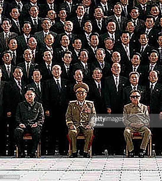 In this detail from a photo released by Korean Central News Agency via Korean News Service on September 30, 2010 North Korean leader Kim Jong-Il and...