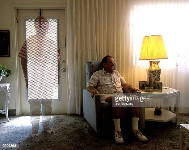 UNDATED In this doubleexposed photo illustration an Alzheimer's patient reports feeling that his wife seems like a ghost to him in1995 in the US...