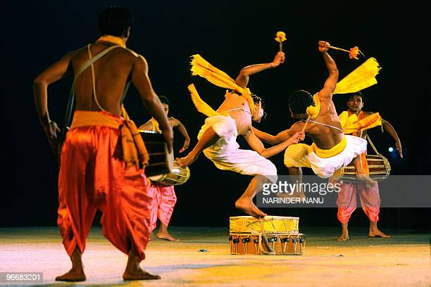 In this February 13 2010 photograph dancers from the Indian state of Manipur perform during the opening ceremony of the Octave 2010 Festival at...