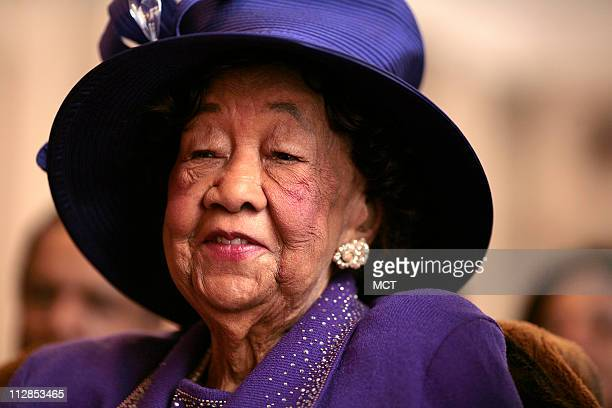 In this February 15 2007 file photograph civil rights leader Dorothy Height listens to speakers at an event on legislation calling for a statue of...