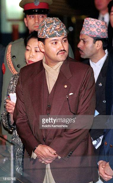 In this file photo dated April 26 Nepalese Crown Prince Dipendra Bir Bikram Shah Dev visits the EdoTokyo Museum in Tokyo Japan Dipendra shot and...
