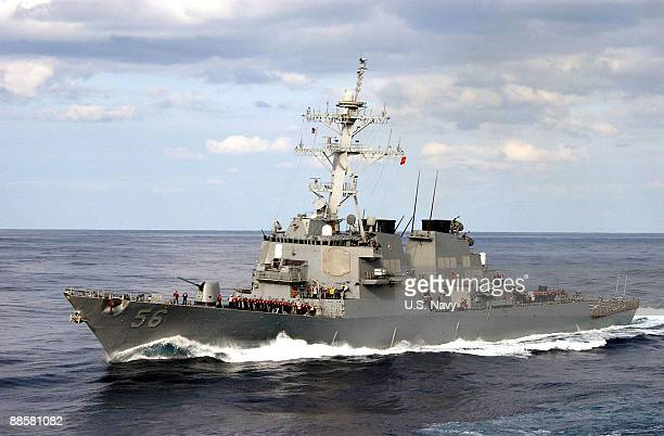 In this file photo provided by the U.S. Navy, the guided-missile destroyer USS John S. McCain is underway December 26, 2003 in the Pacific Ocean....