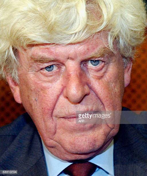 In this file photo released July 31 Dutch Wim Duisenberg the first president of the European Central Bank looks on September 10 2003 at the Economic...