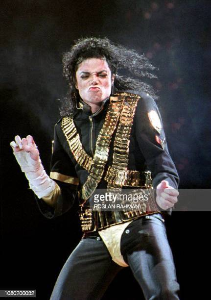 In this file photo taken on August 28 1993 Pop star Michael Jackson performs the first of two concerts at the National Stadium in Singapore A new...