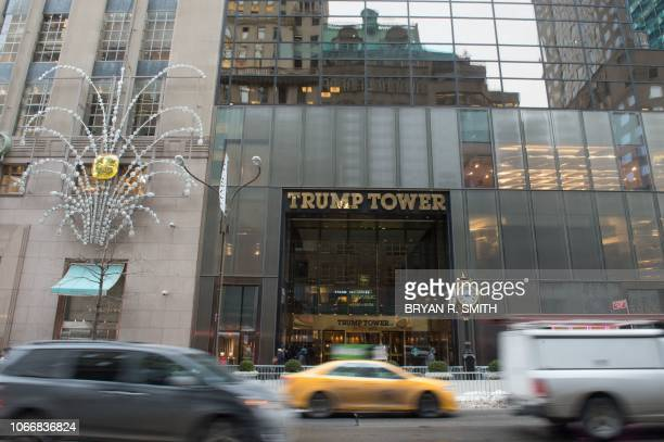 In this file photo taken on January 8 Cars drive past the front of Trump Tower on Fifth Avenue in New York Donald Trump had a dream of building a...