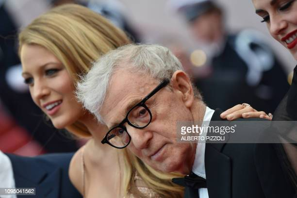 "In this file photo taken on May 11, 2016 US actress Blake Lively and US director Woody Allen arrive for the screening of the film ""Cafe Society""..."