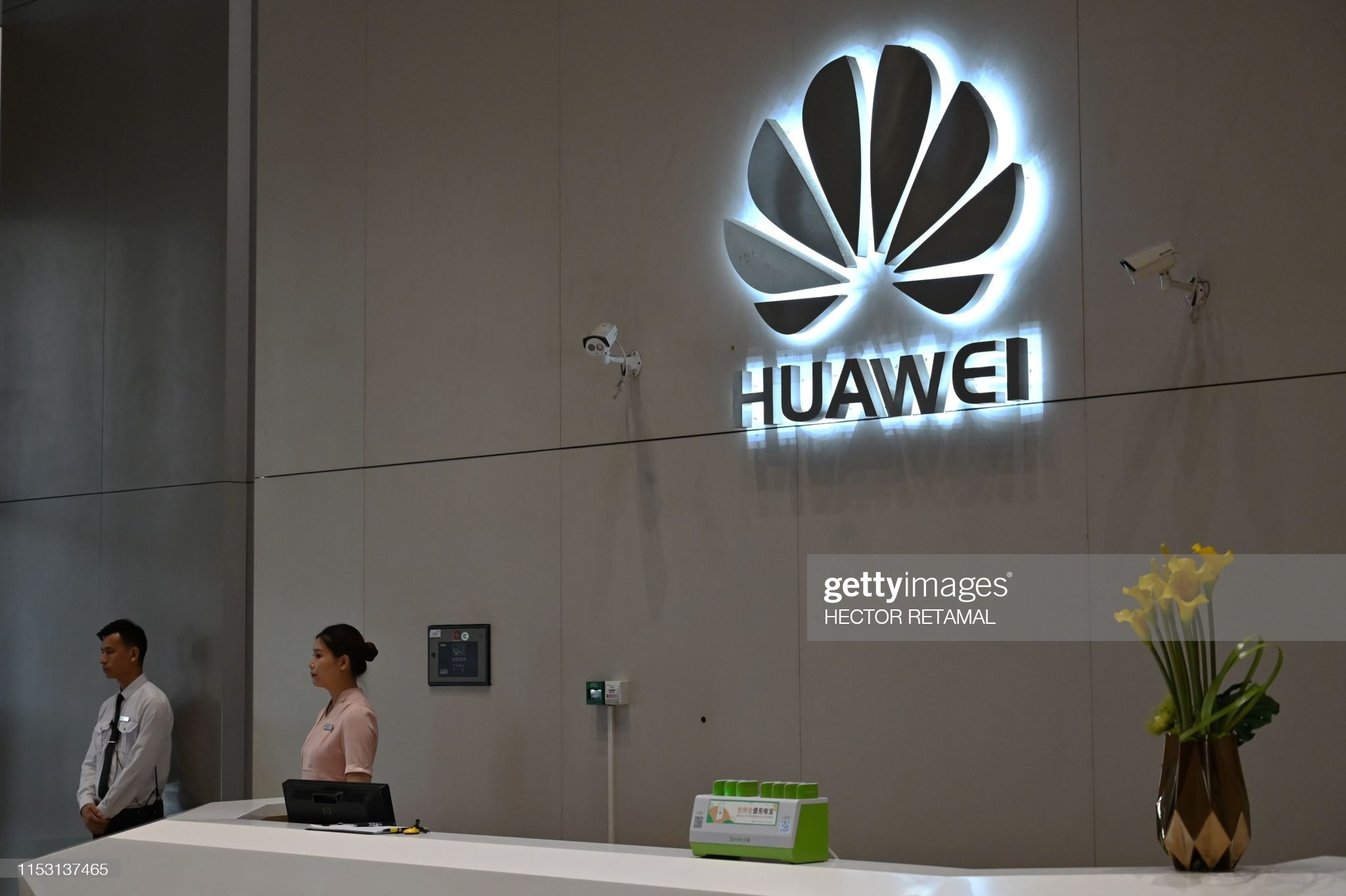 FILES-CHINA-US-HUAWEI-trade-diplomacy-wireless : News Photo