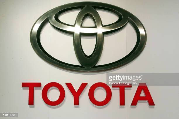 In this file photo, the corporate logo of the Toyota car company is seen at the annual motor show September 23, 2004 in Paris, France. Toyota Motor...