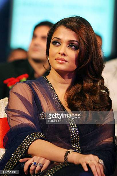 In this file photograph taken on December 21 Indian Bollywood actress Aishwarya Rai Bachchan attends the 'Big Star Entertainment Awards' ceremony in...