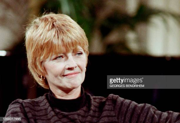 In this file photograph taken on November 10 French cartoonist Claire Bretecher poses during a television show on French channel A2 in Paris...
