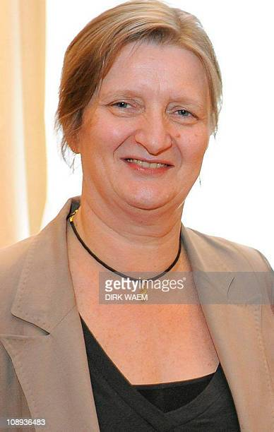 In this file picture taken on July 8 2008 Senator Marleen Temmerman poses at the cabinet of Onkelinx in Brussels In the homeland of surrealism a...