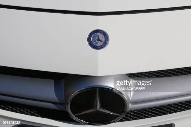 4173b56b26 In this file picture taken on June 15 2018 The logo of Mercedes Benz is  pictured