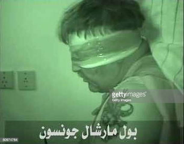 In this frame grab from a website Paul Johnson a Lockheed Martin employee is seen while being held hostage by Islamist militants in Saudi Arabia It...