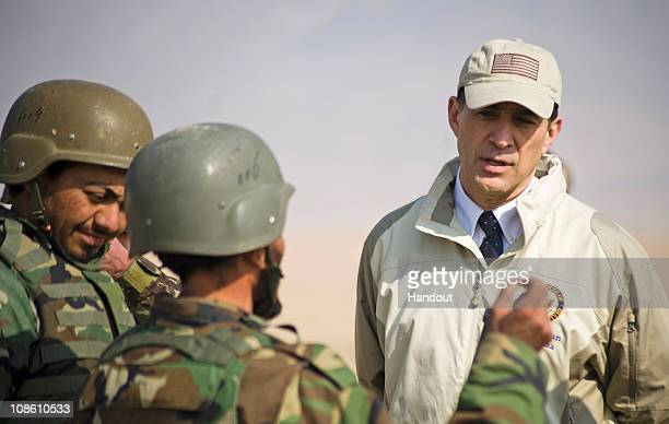 In this hand out image provided by NATO Training Mission - Afghanistan, U.S. Rep. Darrell Issa, R-Calif., chairman of the House Committee on...