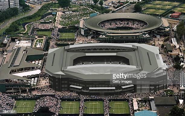 In this Handout a computer aided drawing illustrates how Centre Court at Wimbledon will look at the All England Lawn and Tennis Club on January 6...