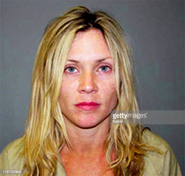 In this handout American actress Amy Locane in a mug shot following her arrest for driving under the influence Somerset County Jail Somerville New...