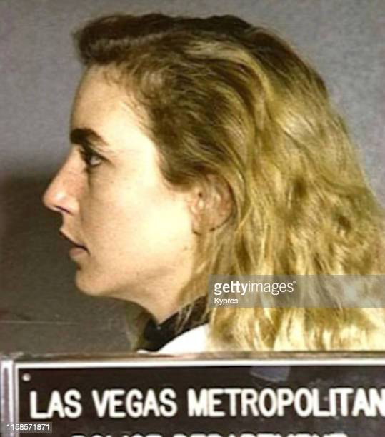 In this handout American actress Dana Plato after her arrest in Las Vegas January 1992