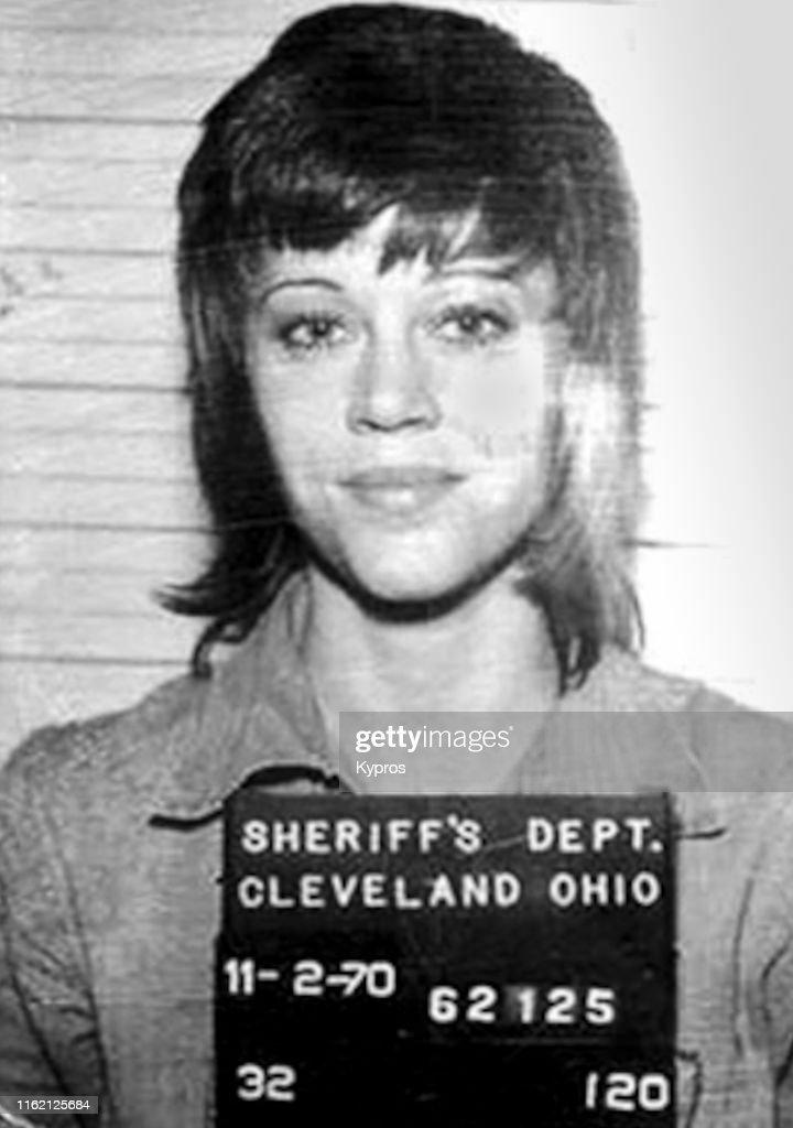Jane Fonda Mugshot : News Photo