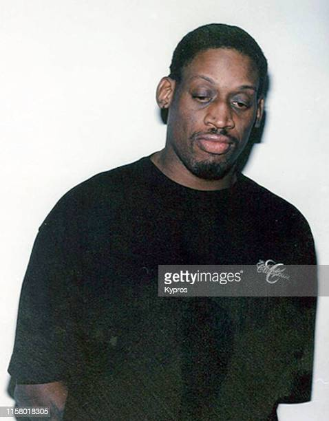 In this handout, American basketball player Dennis Rodman in a mug shot following his arrest for driving under the influence in California, US,...
