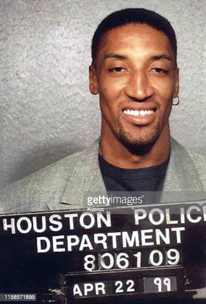 In this handout American basketball player Scottie Pippen in a mug shot following his arrest for driving under the influence Houston US 22nd April...