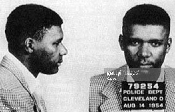 In this handout, American boxing promoter Don King in a mug shot, Cleveland, US, 14th August 1954.