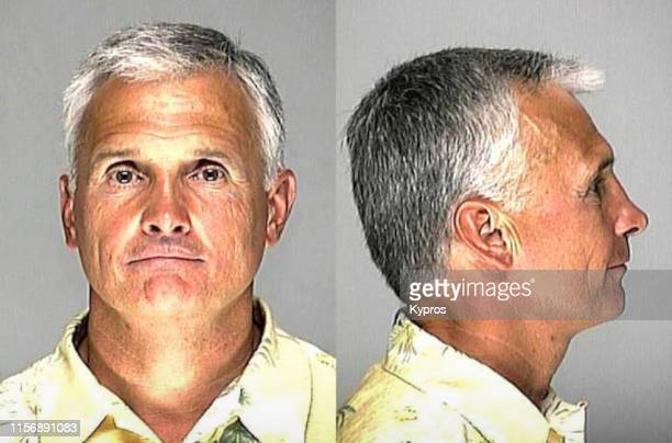 In this handout American professional baseball manager Terry Collins in a mug shot following his arrest for driving under the influence Georgia June...