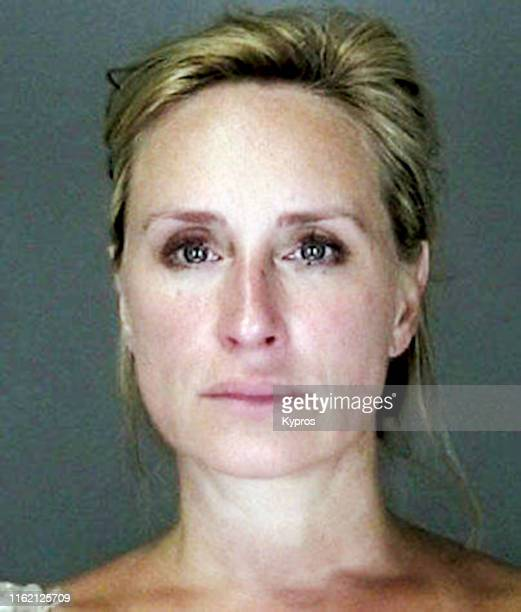 In this handout American television personality Sonja Morgan in a mug shot following her arrest for driving under the influence US 2010