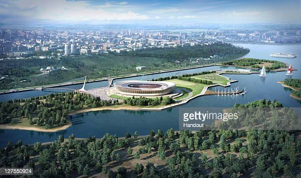 In this handout artists impression provided by the Russia 2018 Organising Commitee the Nizhny Novgorod Stadium is shown as proposed and presented as...