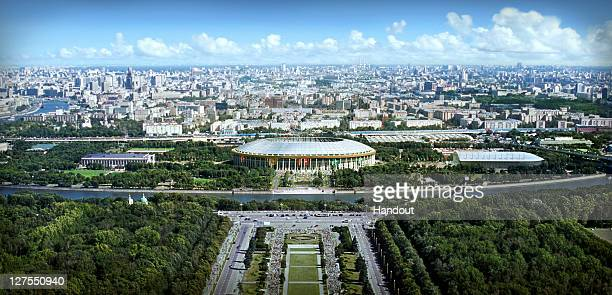 In this handout artists impression provided by the Russia 2018 Organising Commitee the Luzhniki Stadium in Moscow is shown as proposed and presented...