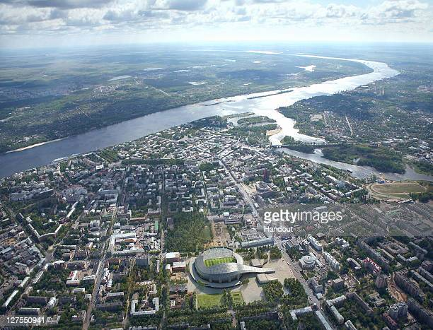 In this handout artists impression provided by the Russia 2018 Organising Commitee the Yaroslavl Stadium is shown as proposed and presented as part...