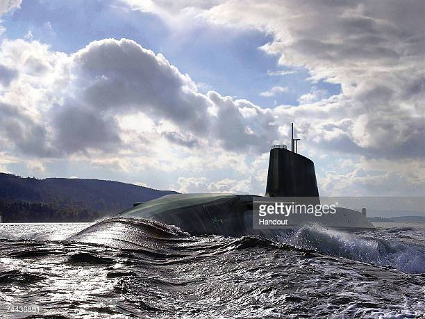 In this handout artists impression released on June 8 2007 by BAE Systems The new Royal Navy submarine HMS Astute can be seen at sea HMS Astute is...