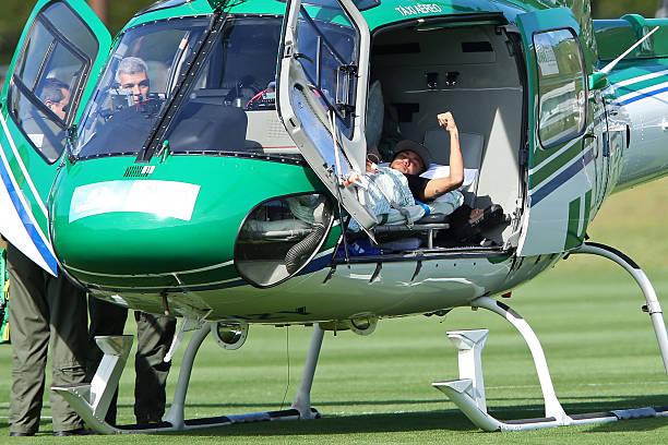 BRA: Neymar Leaves Brazil Training Camp - 2014 FIFA World Cup